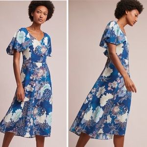 Blooms Silk Dress by Kachel x Anthropologie NWOT 8